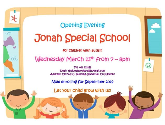 Jonah School Kilkenny Open Evening