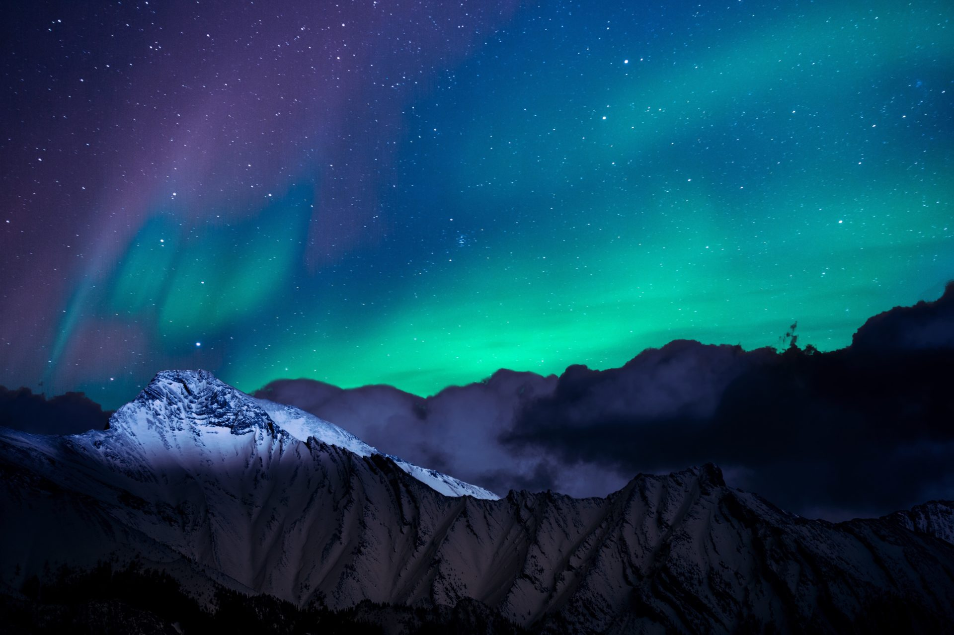 landscape-photo-of-mountain-with-polar-lights-1434608
